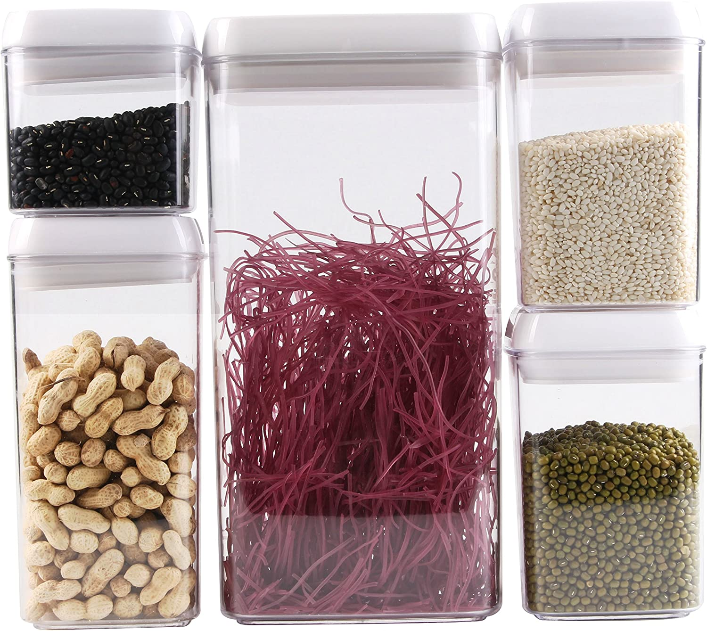 Scotty's (TM) Airtight Food Storage Container Set (1, 5 Piece Set - 0.5 L, 0.8 L (X2) 1.2 L, 3.2 L)