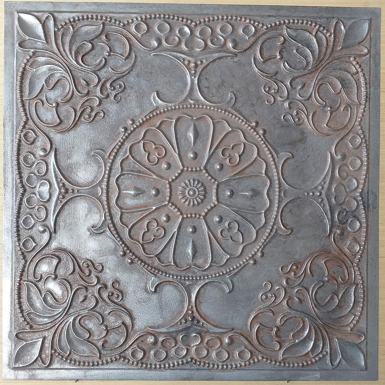 PAINTSDECOR Faux tin Ceiling Tiles Paint Weather Iron Color Decor Wall Panels PL71 10pcs/lot