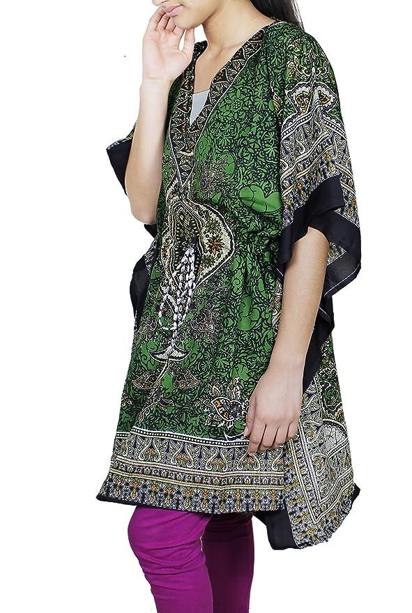 Kaftan vestido de manga corto bordado floral Vestido de mujer de moda para regalos de Navidad: Amazon.es: Ropa y accesorios