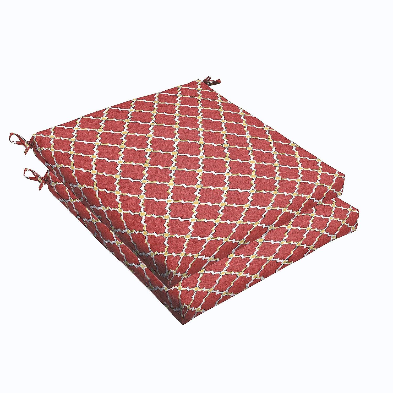 Amazon.com: Mozaic amcs105097 Indoor/Outdoor Cojín, rojo ...