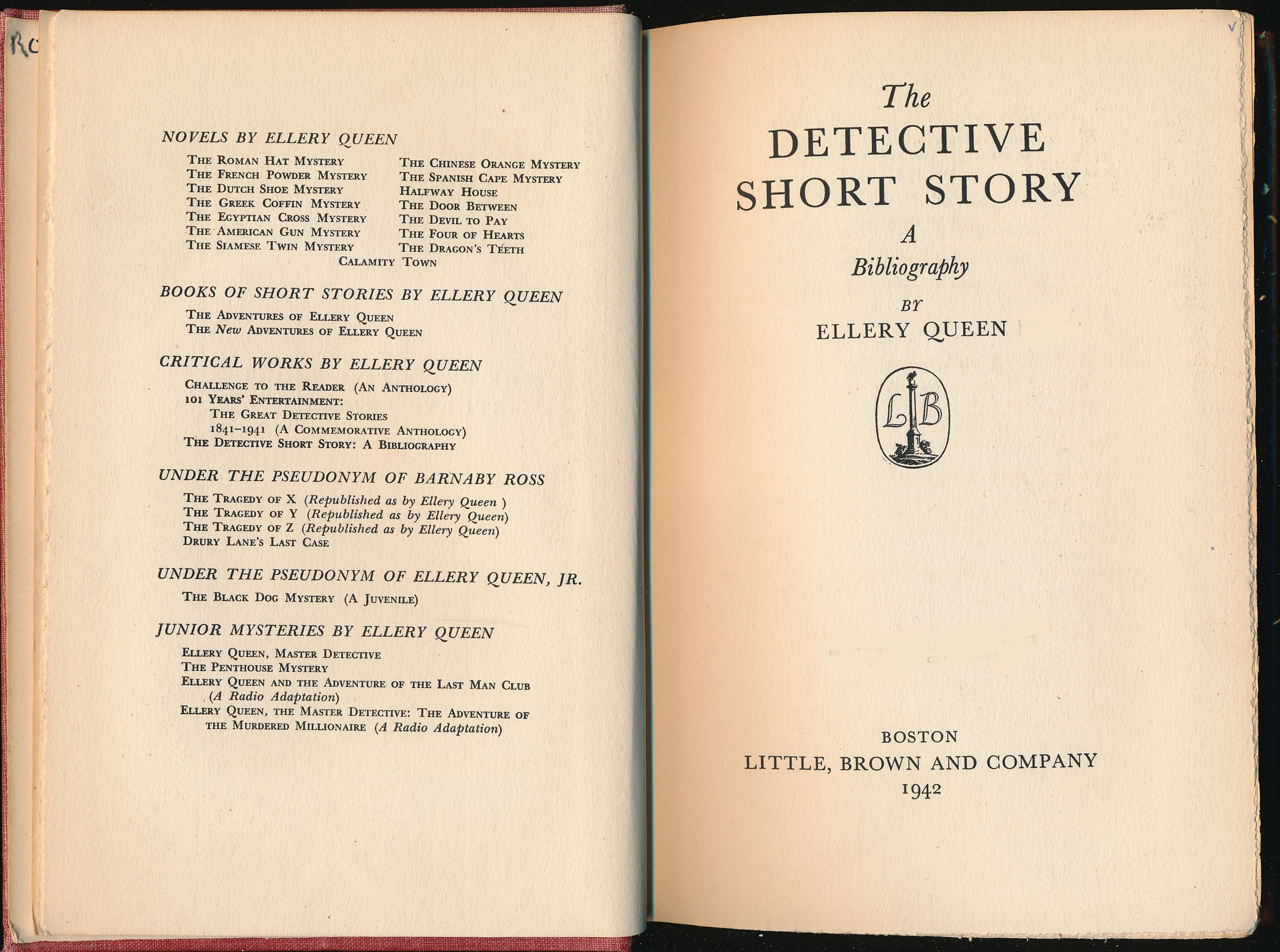 The Detective Short Story: A Bibliography: Ellery Queen: Amazon: Books