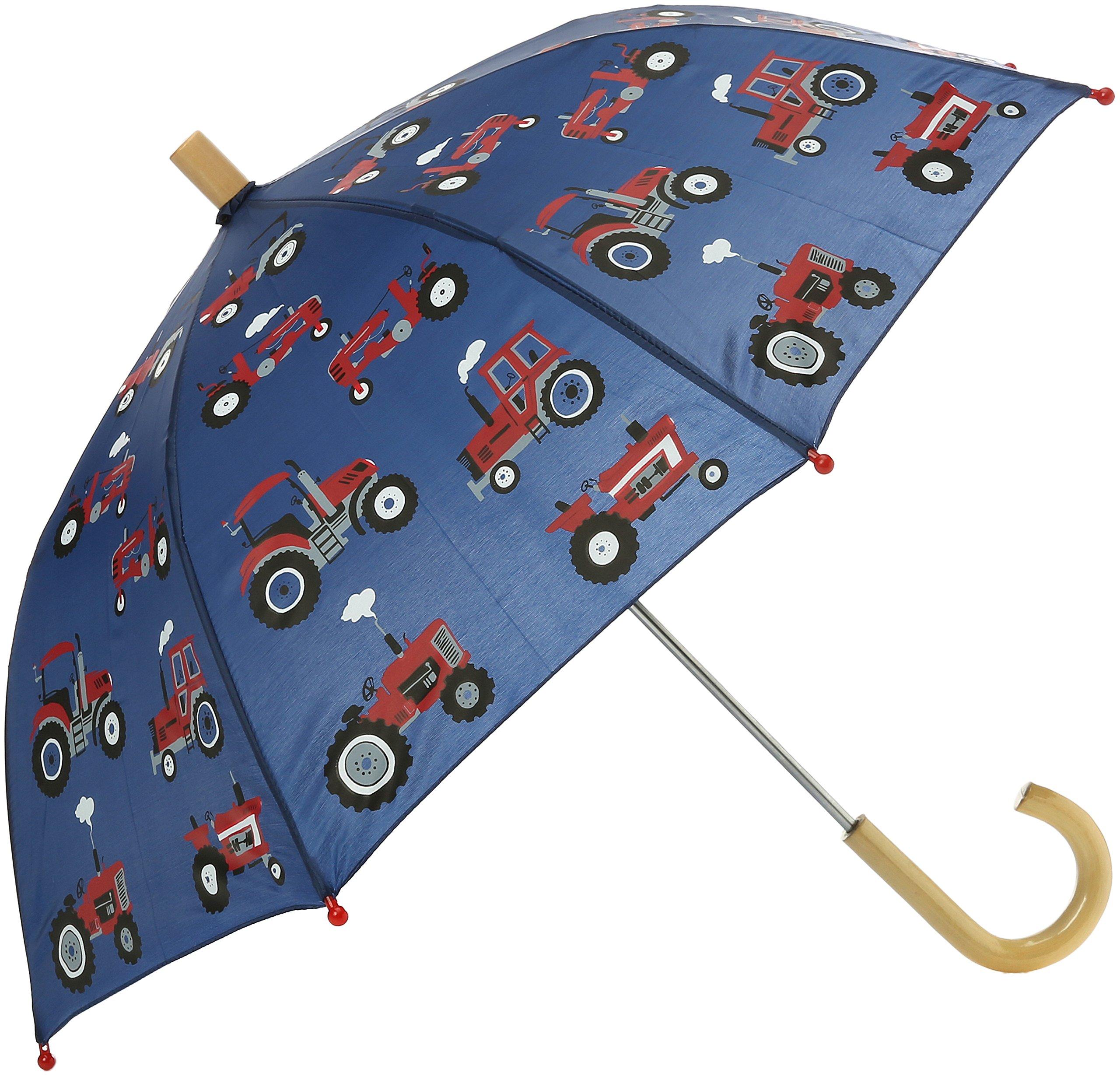 Hatley Little Boys' Printed Umbrellas, Red Farm Tractors, One Size