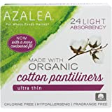 Azalea, Organic Cotton Pantiliners, Ultra Thin, 24 ct