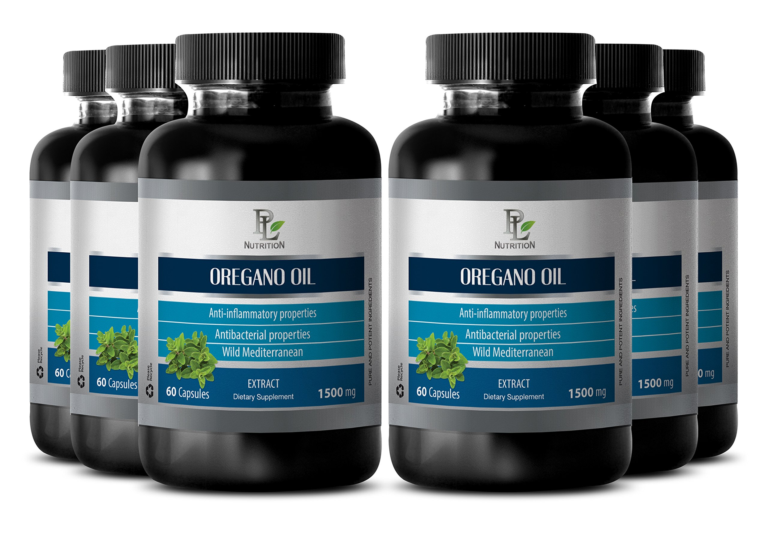 Anti aging - OREGANO OIL EXTRACT 1500mg - Oil of oregano capsules - 6 Bottles 360 Capsules