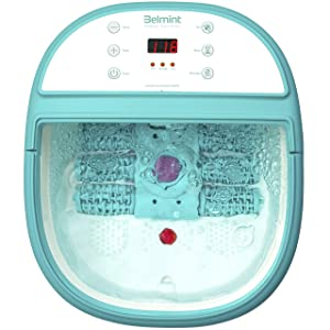 Foot Spa Bath Massager with Heat - Feet Soaking Tub Features 6 Pressure Node, Massage Rollers, Vibration, Bubbles - Stress Relief for Fatigue and Tired Feet