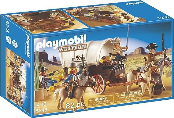 PLAYMOBIL - Caravana con Bandidos, Set de Juego (5248): Amazon.es: Juguetes y juegos