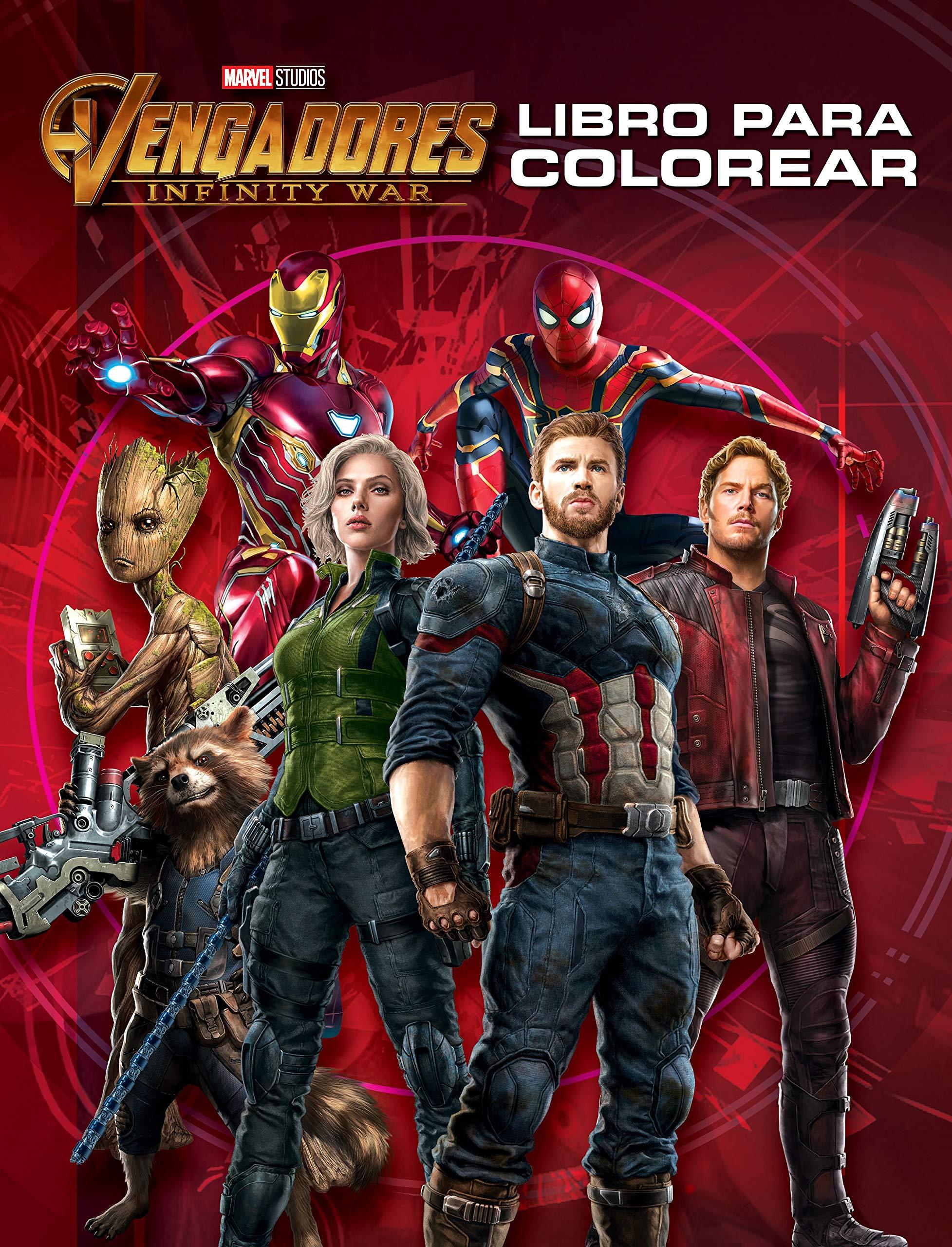 Dibujos Para Colorear Super Heroes Vengadores - páginas ...