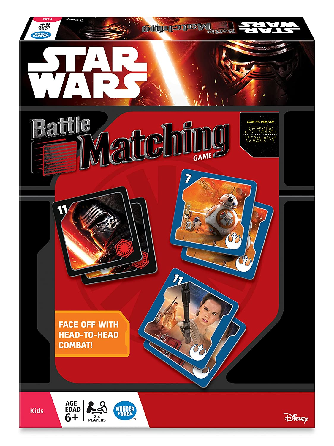 The Wonder Forge WON 1415 Star Wars The Force Awakens Battle Matching Game