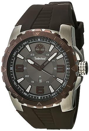 Timberland Reloj Analógico para Hombre de Cuarzo con Correa en Caucho TBL.14478JSTBN-61P: Amazon.es: Relojes