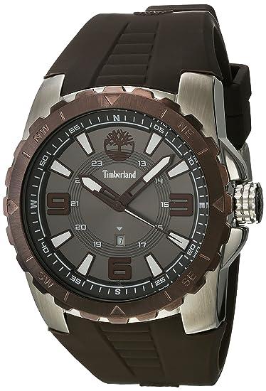 Timberland Reloj Analógico para Hombre de Cuarzo con Correa en Caucho TBL.14478JSTBN-61P