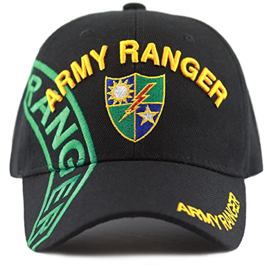 THE HAT DEPOT Official Licensed Army Ranger Baseball Cap (Black) 75009a7f73a