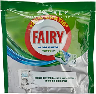 Fairy - Ultra Power - Cápsulas para lavavajillas - 18 unidades ...