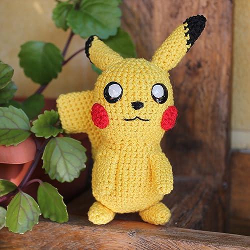 Pikachu de Ganchillo Hecho a Mano, Muñeco de Peluche, Amigurumi, Regalo, Pokemon