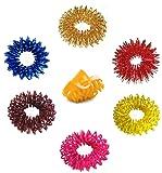 Acupressure Massage Sujok Ring in Assorted Colors Set of 6 pcs