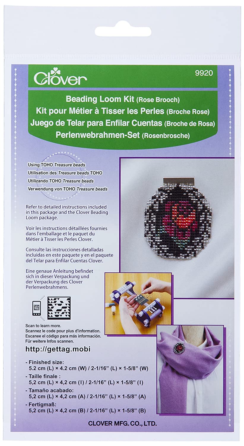 Clover 9920 Beading Loom Kit/Rose Brooch CLOVER MFG. CO. LTD.