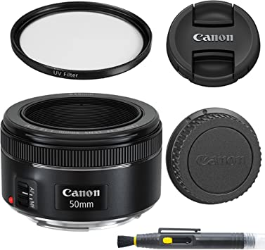 Amazon Com Canon Ef 50mm F 1 8 Stm Lens With Glass Uv Filter Front And Rear Lens Caps And Deluxe Cleaning Pen Lens Accessory Bundle 50 Mm F1 8 International Version Camera Photo