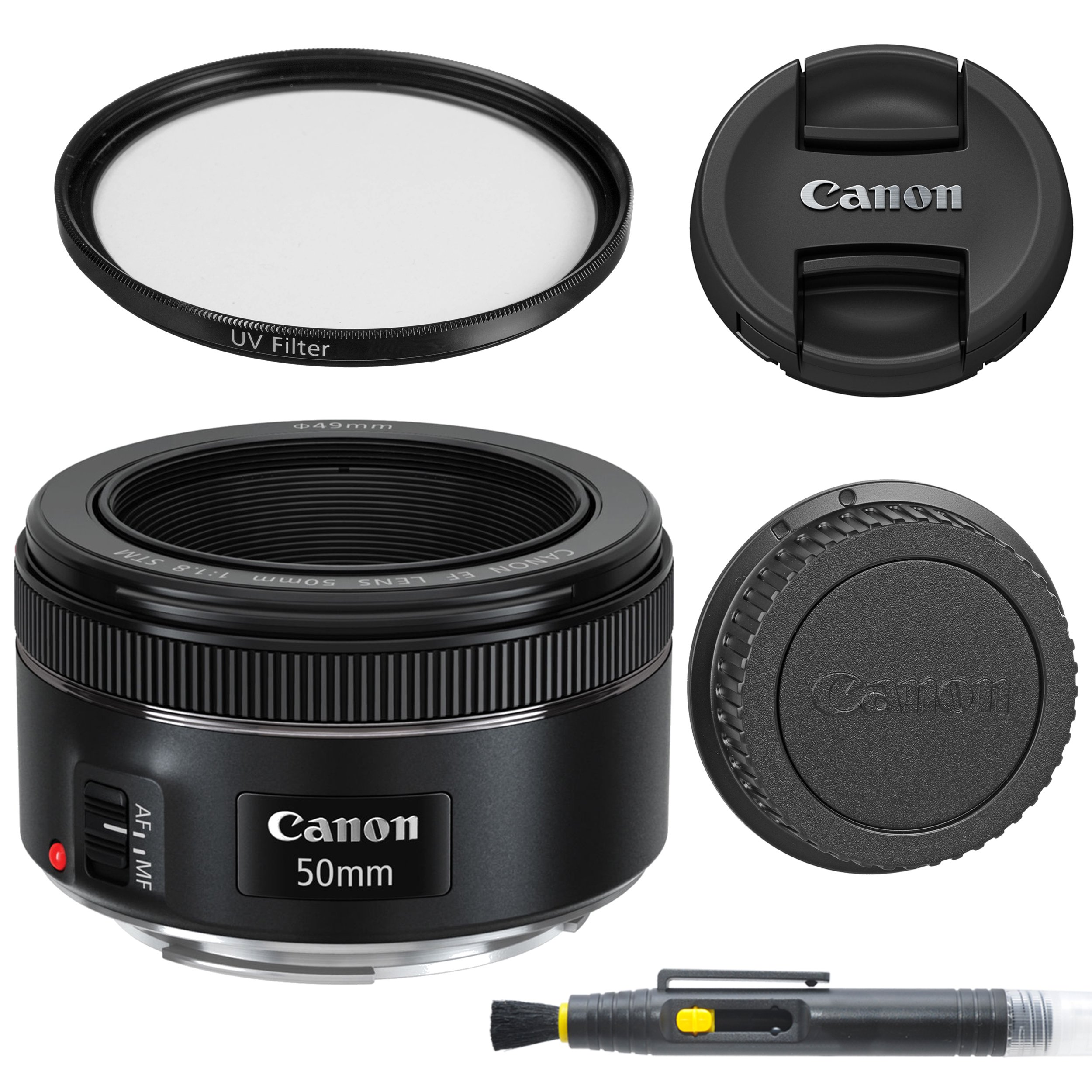 canon-ef-50mm-f18-stm-lens-with-glass-uv-filter-front-and-rear-lens-caps-and-deluxe-cleaning-pen-lens-accessory-bundle-50-mm-f18-international-version