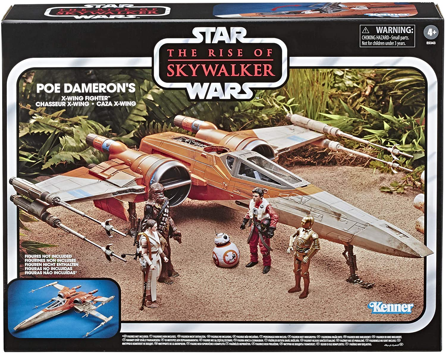 Amazon Com Star Wars The Vintage Collection The Rise Of Skywalker Poe Dameron S X Wing Fighter Toy Vehicle Toys For Kids Ages 4 Up Toys Games
