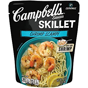 Campbell's Skillet Sauces, Shrimp Scampi, 11 Ounce Can, Pack of 6