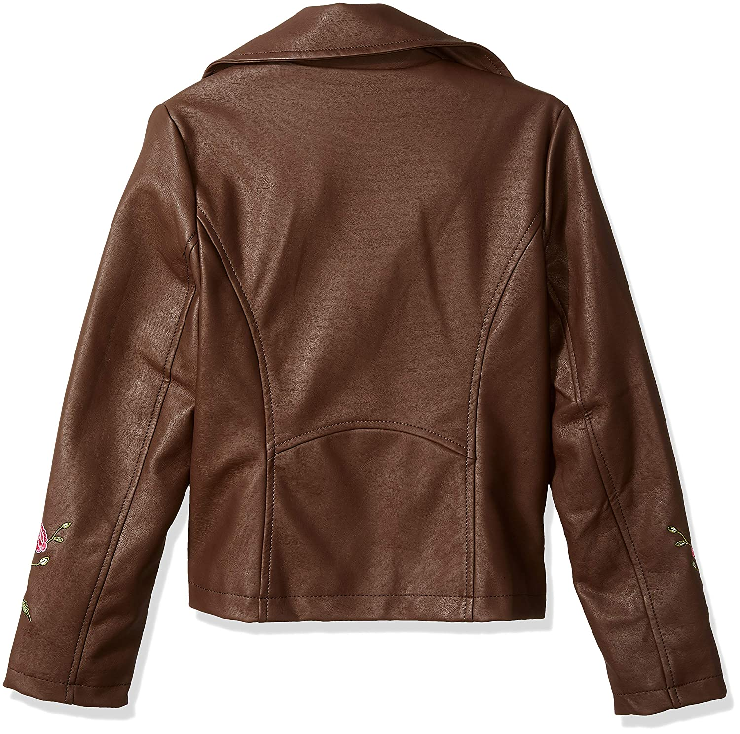 Jessica Simpson Girls Big Faux Leather Moto Jacket