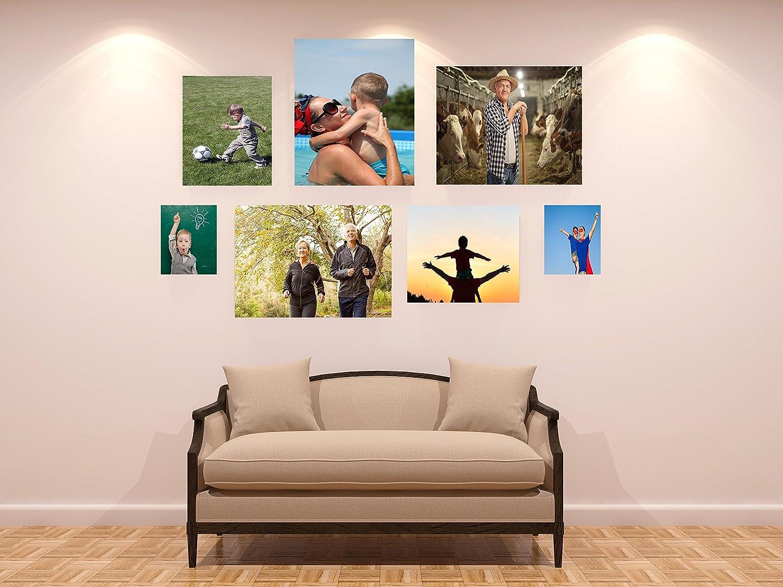 Cuadro PVC 100/% Personalizado Collage 3 Conjunto de fotograf/ías Adaptadas a Las Medidas por Cliente | Varias Medidas 100 x 100 cm Personalizadas F/ácil colocaci/ón Decoraci/ón Habitaci/ón