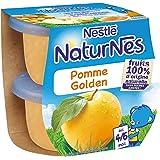 Nestlé Bébé Naturnes Pomme - Compote dès 4 - 6 Mois - 2 x 115g - Lot de 4