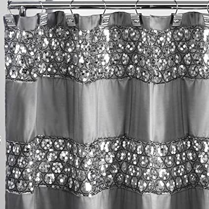Amazon Royal Bath Bedazzled Bling Fabric Shower Curtain 70 X