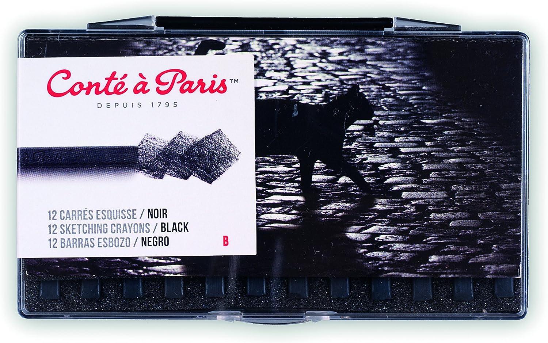 Cont/é /à Paris 12 Count B Sketching Crayons Set Black