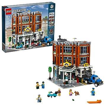 LEGO Creator Expert - Taller de la Esquina, Juguete de Maqueta de Edificio para Construir con Vehículos y Minifiguras (10264)