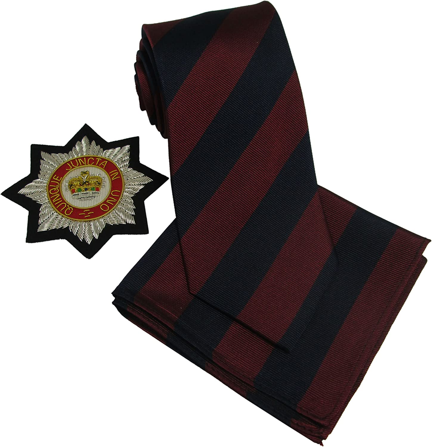 Brigade of Guards Tie /& Matching Pocket Square