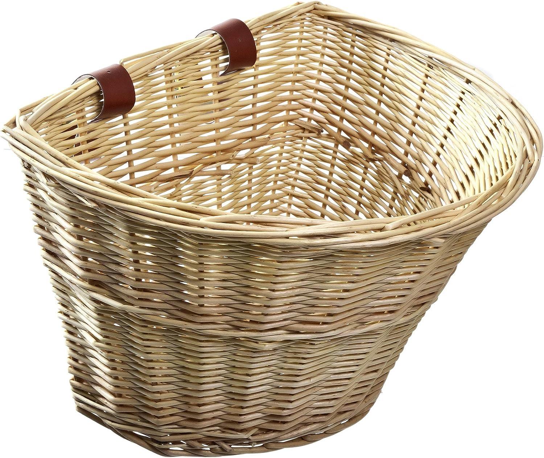 Front Handle Adult Storage Basket SOOTOP Bicycle Handmade Basket Adjustable Leather Belt Bicycle Accessory Storage