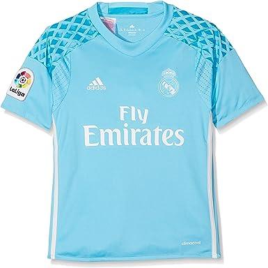 adidas Real Madrid H Gk JSY Y - Camiseta 1ª Equipación de Portero del Real Madrid CF 2015/16 Niños: Amazon.es: Ropa y accesorios