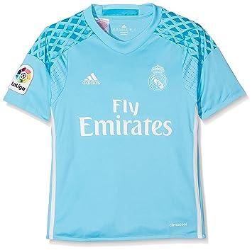 adidas H Gk JSY Y Camiseta 1ª Equipación de Portero del Real Madrid CF 2015  6c21e9d685a57