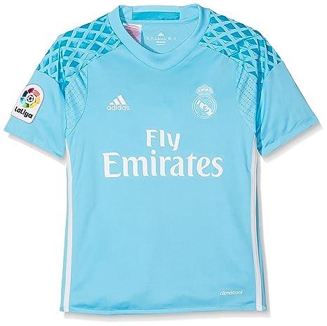 9be4981a338 Amazon.com : adidas Real Madrid Kids Home Goalkeeper Shirt 2016-17 ...