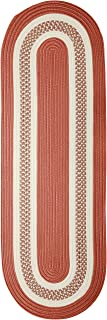 product image for Crescent Oval Area Rug, 2 by 8-Feet, Terracotta