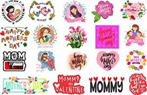 H2 Studio Best Mom Gifts, Sweet Stickers for Mothers Birthday Gifts from Daughter and Sons, Happy Mothers Day Stickers for Decorating Fridge, Phone Case, Laptop Stickers, Water Bottle Stickers Pack 40