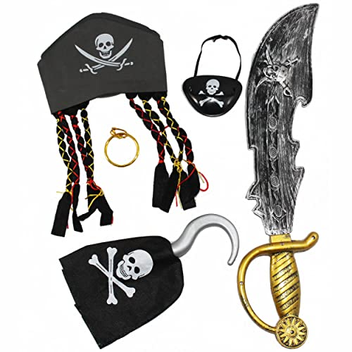 Hat, Eye Patch, Sword, Ear Ring and Hook