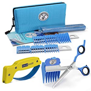 Calming Clipper - The Silent, Gentle Haircutting Kit for Children with Autism and Sensory Sensitivity - Right-Handed, Includes Barber Cape & Sharpener