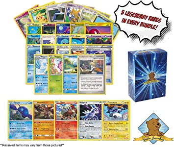 100 Tarjetas Pokemon más 5 Raras Cartas legendarias Pokemon ...