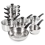 Morphy Richards Equip 8 Piece Pan Set - Stainless Steel