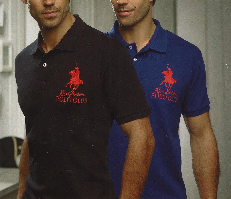 Royal Berkshire Polo Club Polo para Hombre Camiseta Doble Pack SW ...