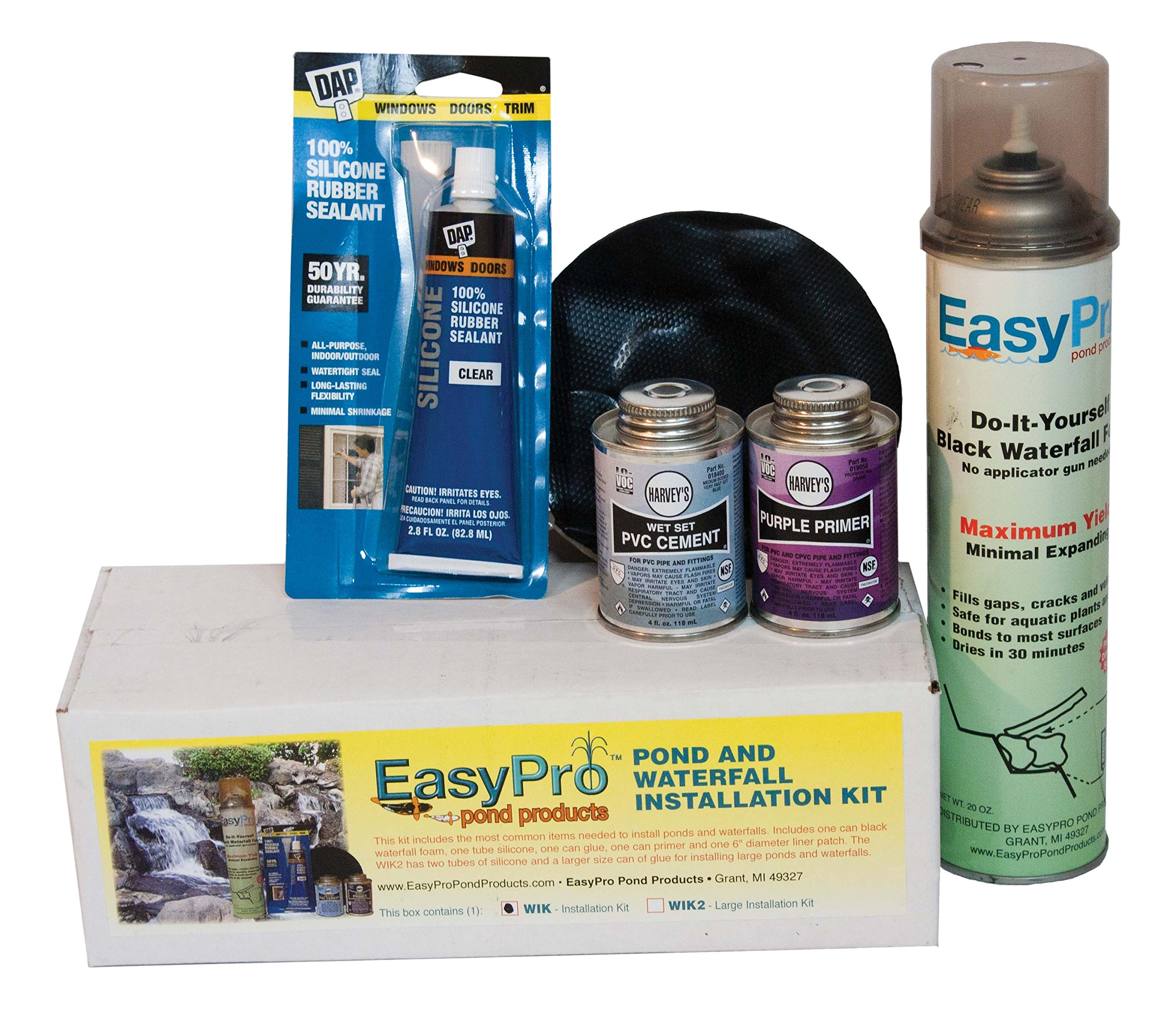 EasyPro Pond Products WIK2 Waterfall Installation Kit, Large