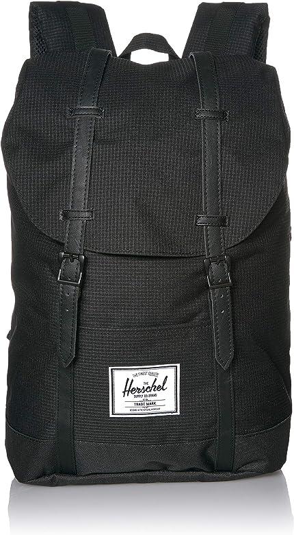 Herschel supply Co. City - Mochila de volumen medio, Rejilla oscura/negro. (Negro) - 10066-02993-OS: Amazon.es: Ropa y accesorios