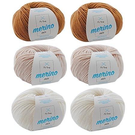 Merinowolle Zum Häkeln Wollpaket Milchkaffee L Merino Wolle