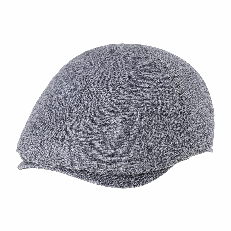 WITHMOONS Mens Flat Cap Simple Classic Bocaci Cotton Ivy Hat SL3651 SL3651Charcoal