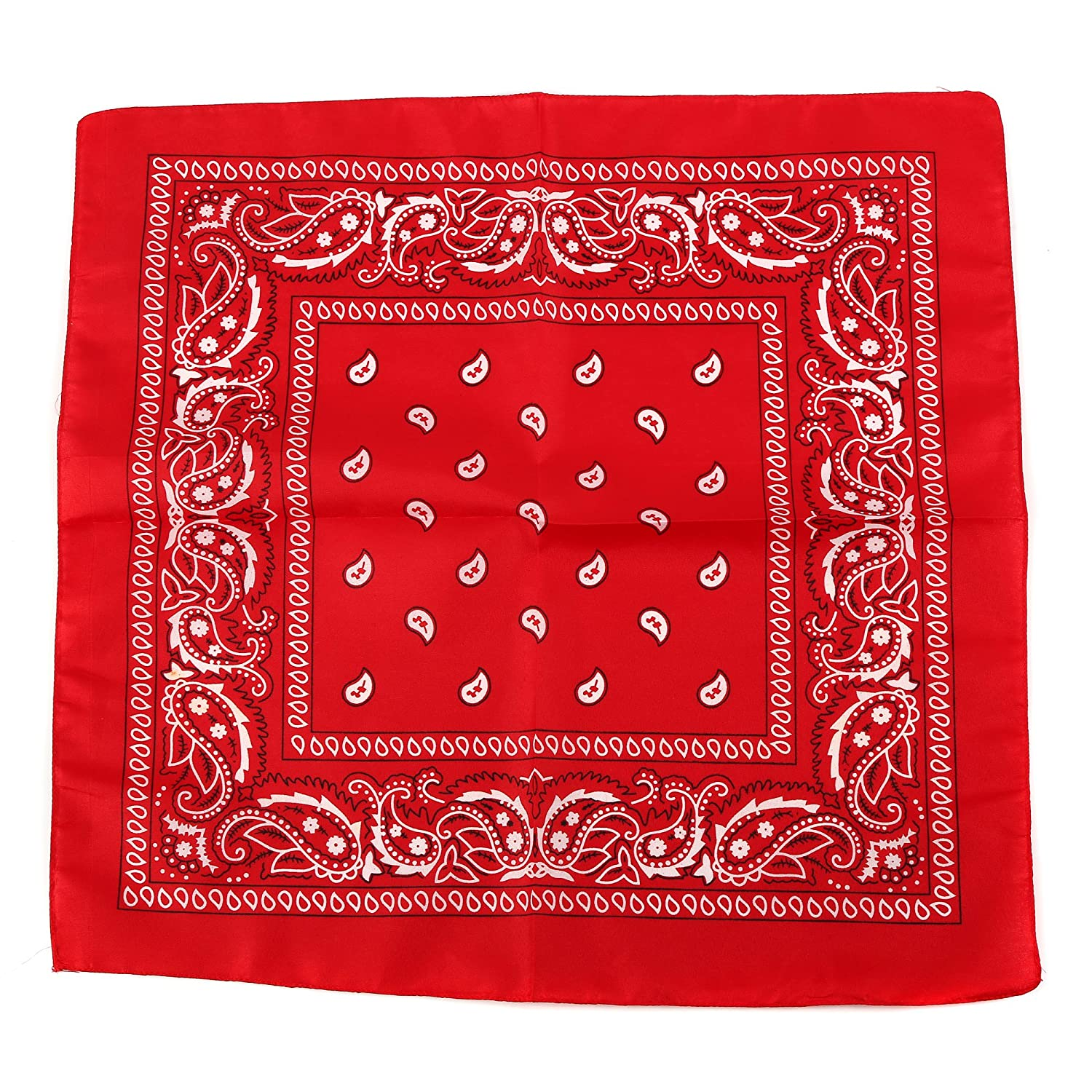 Red Fun Central 12 Pack Bandanas in Bulk for Men Kids /& Dogs Women Cowboy Party Favors Supplies