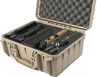 product image for Desert Tan Seahorse 4 Pistol Carrying/Range case. Holds 4 Pistols and 12 Magazines.