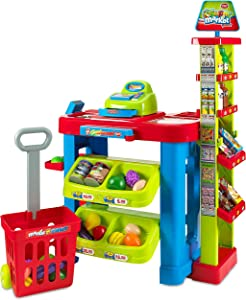 Creative Time Kids Supermarket Super Fun Playset with Shopping Cart