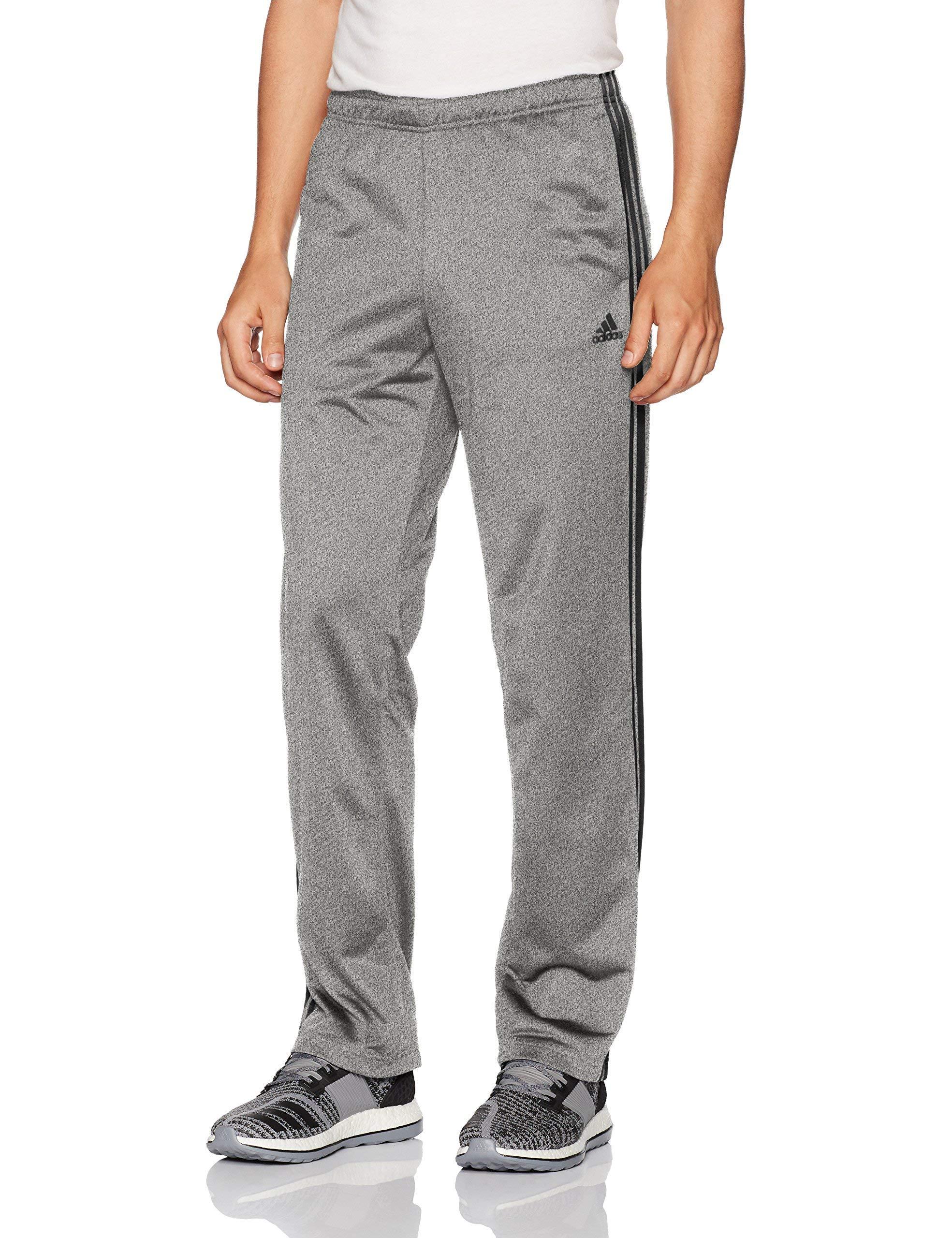 adidas Men's Athletics Essential Tricot 3-Stripe Pants, Dark Grey/Black, Large by adidas