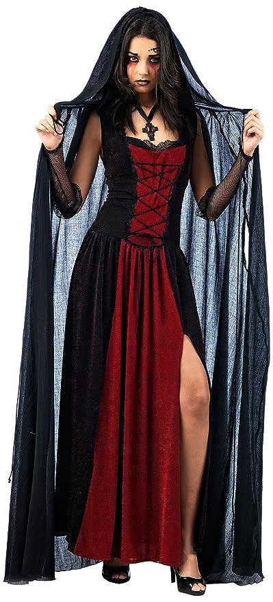 Halloween , Cape Vampire Noir , Accessoire Déguisement Femme , S